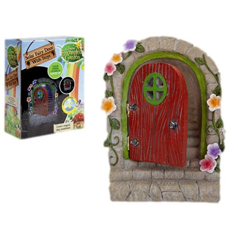 Solar Fairy Door that has Hinges and steps
