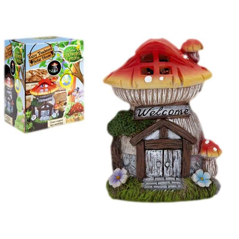 Pixieland Secret Fairy Garden Solar Toadstool House