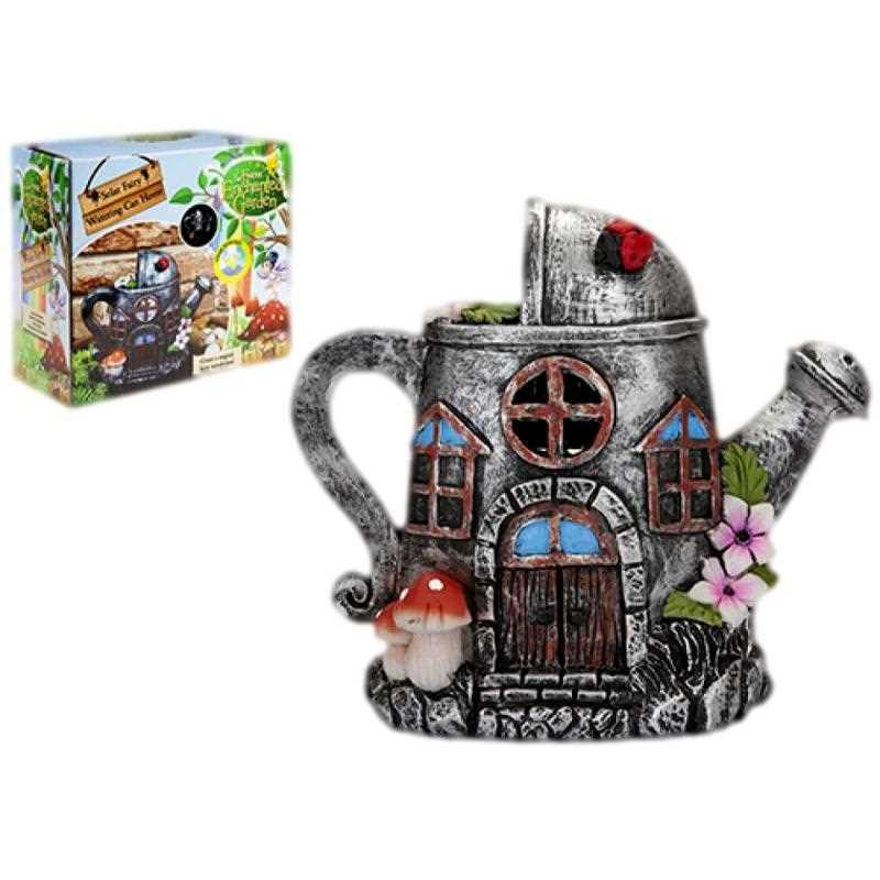 Pixieland Secret Fairy Garden Solar Watering Can House