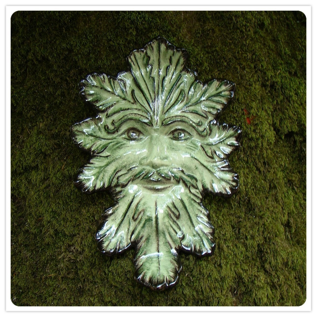 Large Green Man Plque