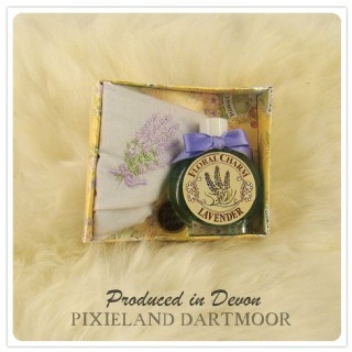 Lavender perfume and handkerchief