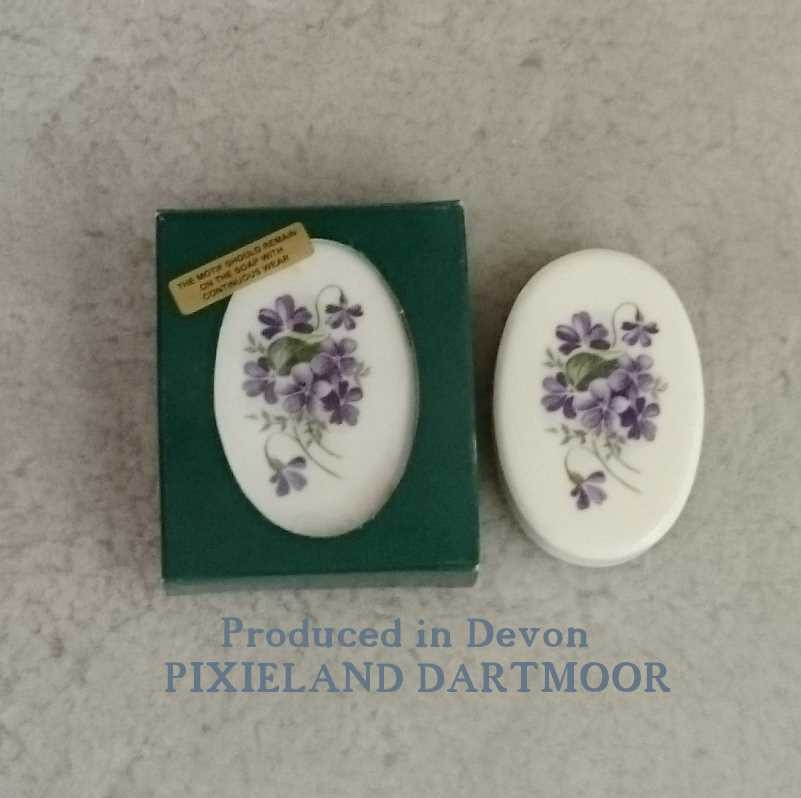 Devon violets soap gift box