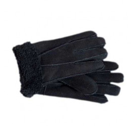 Ladies Genuine Sheepskin Cuffed Panel Gloves