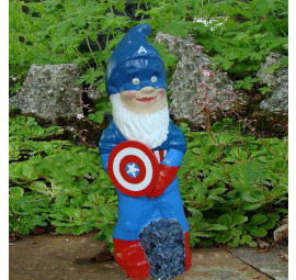 Super Hero Gnome Captain America