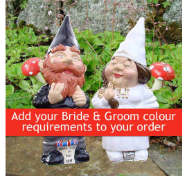 Made to order wedding garden gnomes
