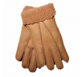 Genuine Ladies Soft Nappa Leather Sheepskin Lined Gloves - Buttermilk