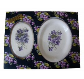 Devon violets soap and dish