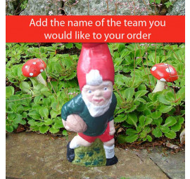 Made to order rugby garden gnome