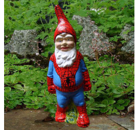 Super Hero Garden Gnome Spiderman