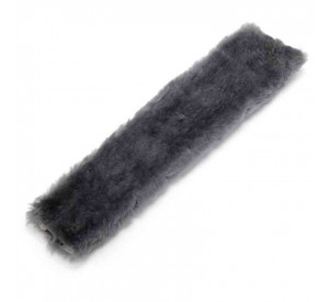 Grey 45cm Sheepskin Seatbelt Cover