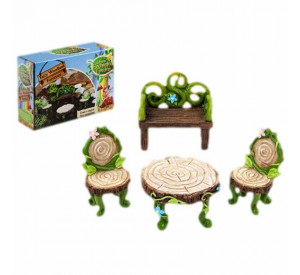 Woodland Enchanted Fairy Garden 4pc Furniture set
