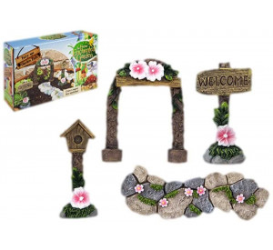 Secret Fairy Garden Woodland 4 Piece Path Set