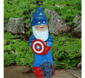 Super Hero Garden Gnome Captain America