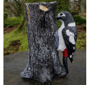 Greater Lesser Spotted Woodpecker Resin Ornament