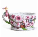 Fairy Garden Cherry Blossom Tea Cup Planter