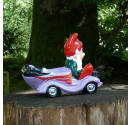 Hot Rod Garden Gnome Purple Side 1