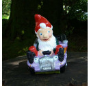 Hot Rod Garden Gnome Purple Front