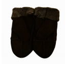 Ladies Chocolate Sheepskin Mittens