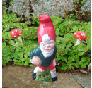 Made to order rugby garden gnome front view