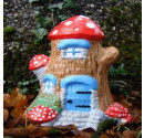 Stone Fairy Tree Trunk Lodge ~ Garden Ornament