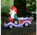 Hot Rod Garden Gnome Purple Side 2