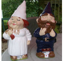 Made to order wedding garden gnomes cream pink bride