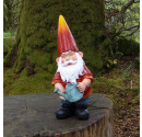 Garden Resin Gnome Ornament- Ollie 38cm