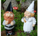 Made to order wedding garden gnomes grey groom
