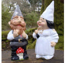 Made to order wedding garden gnomes traditional