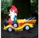 Hot Rod Garden Gnome Yellow Side 2
