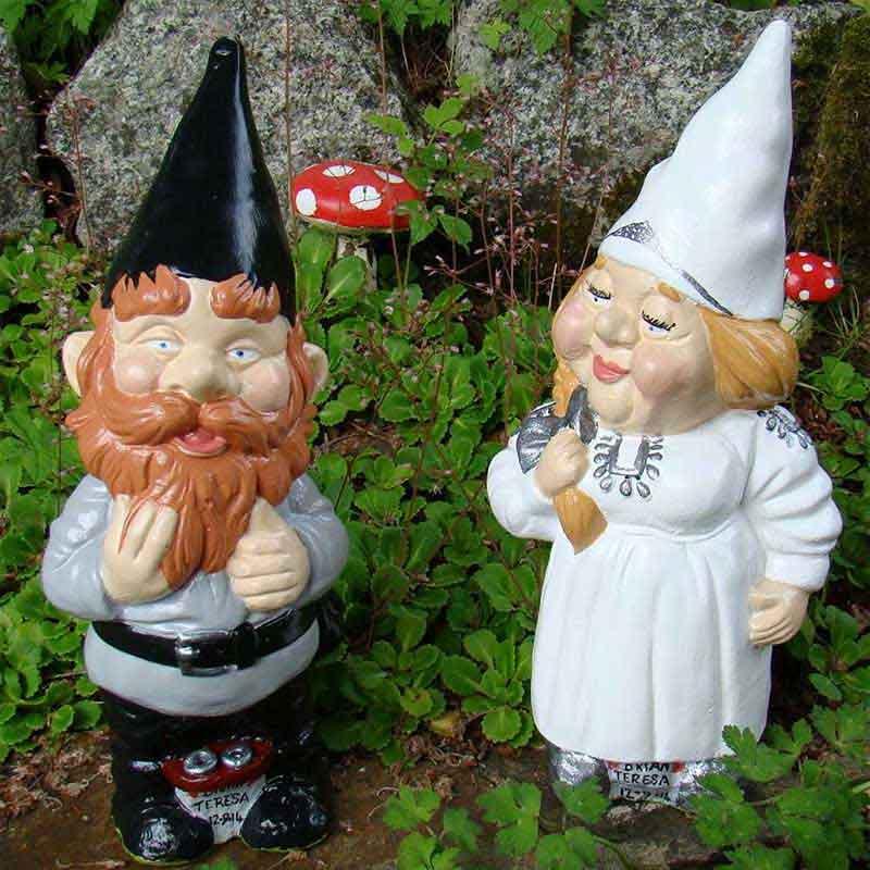White/Silver Bride Gnome