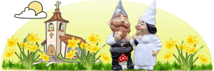Made to Order Wedding Couple Garden Gnomes