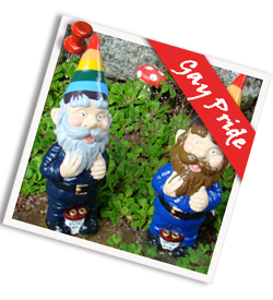gay pride garden gnome