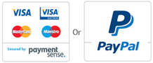 Payment Sense and Paypal accepted