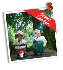 Scout Leaders Garden Gnomes