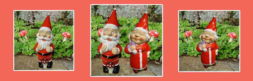 Gnomes Father and Mrs Christmas